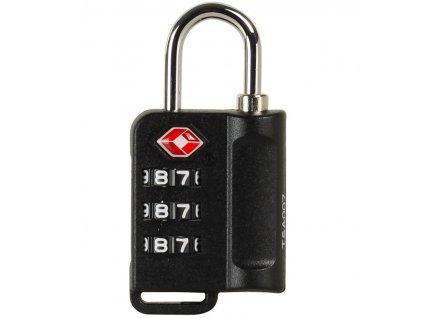 Bezpečnostní TSA kódový zámek na zavazadla ROCK TA-0006 - čierna