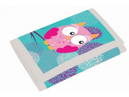 detská textilný peněženka Sova 3-58617