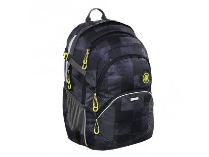 Školní batoh Coocazoo JobJobber2, Mamor Check  + LED svítilna + Vrecko na prezúvky