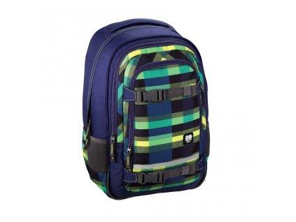 """Školní batoh All Out """"Selby"""" Backpack, Summer Check Green  + LED Svítilna"""