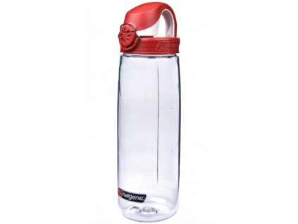 Nalgene OTF 750 ml Clear/Fire Red Cap - láhev