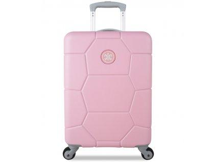 kabinová batožina SUITSUIT® TR-1231/3-S ABS Caretta Pink Lady  + LED svítilna
