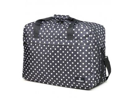 Cestovná taška MEMBER'S SB-0036 - čierna/biela
