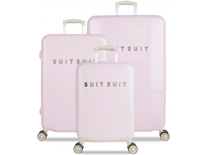 Sada cestovných kuforů SUITSUIT® TR-1221/3 - Fabulous Fifties Pink Dust  + LED svítilna