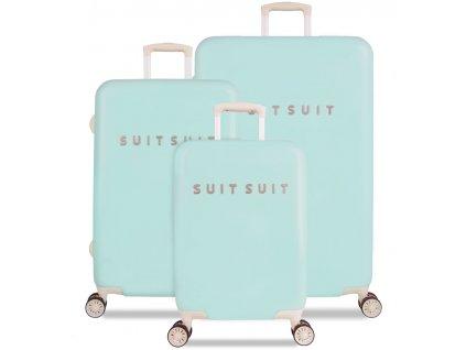 Sada cestovných kuforů SUITSUIT® TR-1222/3 - Fabulous Fifties Luminous Mint  + LED svítilna + zľava 10% s kódom AKCE10