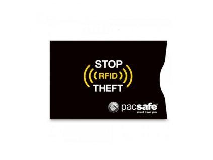 PACSAFE peneženka RFIDsleeve 25 (2 PACK) black