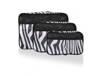 135774 heys exotic packing cube set zebra sada 3 ks