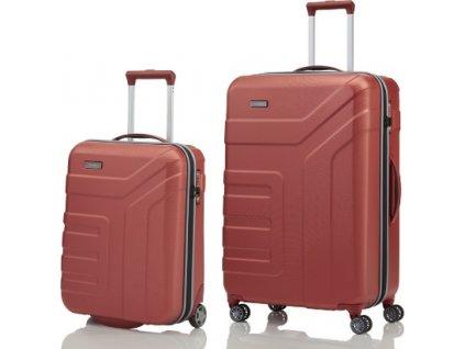 Travelite Vector 2w S, 4w L Coral - sada 2 kufrů