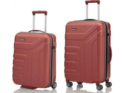Travelite Vector 2w S, 4w M Coral - sada 2 kufrů