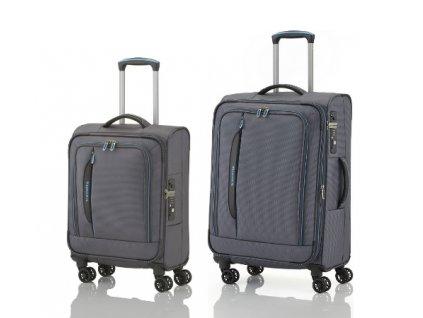 Travelite CrossLITE 4w S, M Anthracite - sada 2 kufrů