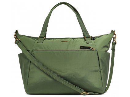 150716 pacsafe taska stylesafe tote kombu green