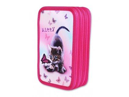 Školní penál 3-patra Kitty (Varianta Neplněný penál)