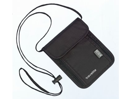 161093 travelite neck pouch rfid black