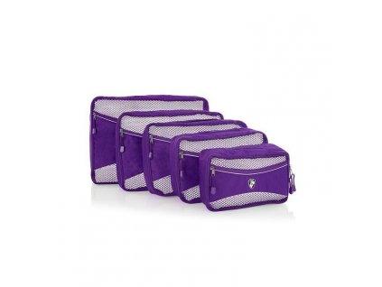 161078 heys eco packing cube 5pc set ii purple