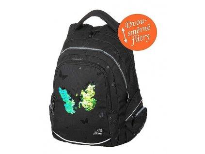 150950 studentsky batoh fame sparkling butterfly
