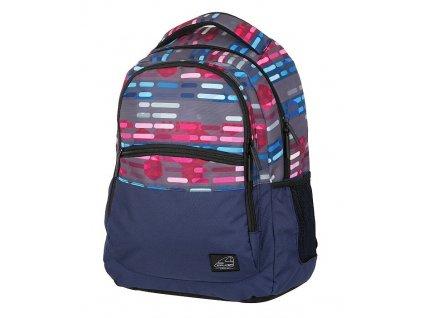 151019 volnocasovy batoh classic lines blue pink