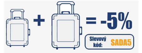 Sleva 5 na sady kufrů