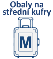Obaly na střední cestovní kufry