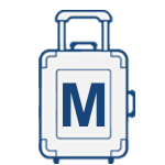 Střední cestovní kufry