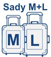 Sady cestovních kufrů M+L