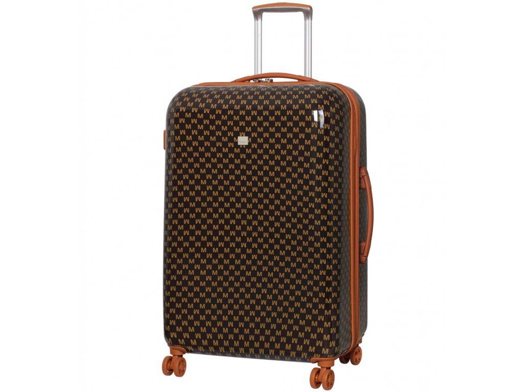 Cestovní kufr MEMBER'S TR-0184/3-L ABS - hnědá  + LED svítilna