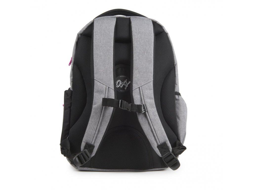 286c8a0823b Studentský batoh OXY Style GREY LINE Pink 7-69718 - Světbatohů.cz