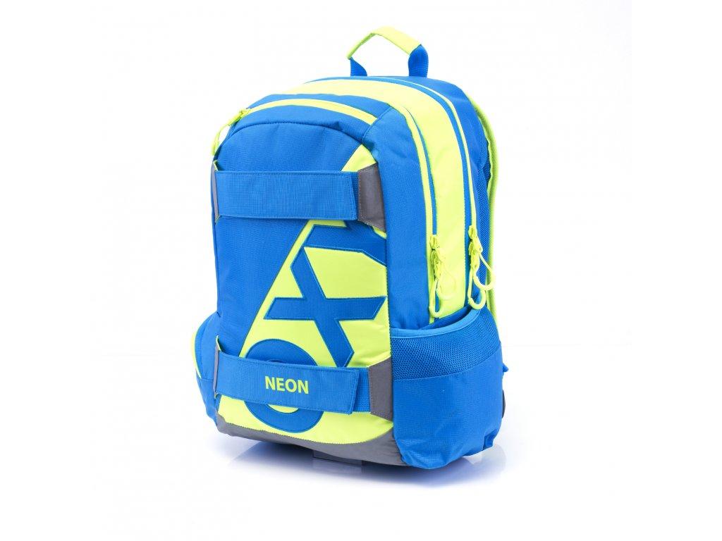 c3f677b427 Studentský batoh OXY Sport NEON LINE Blue 3-17517 - Světbatohů.cz