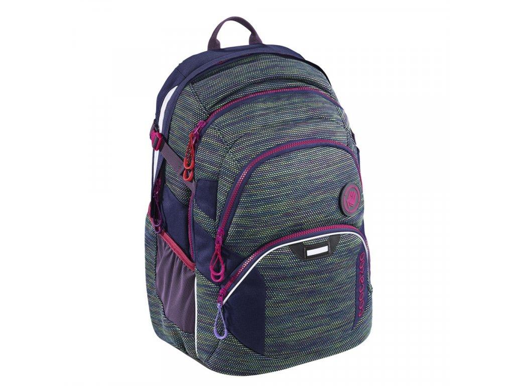 Školní batoh Coocazoo JobJobber2, Wildberry Knit  + LED svítilna