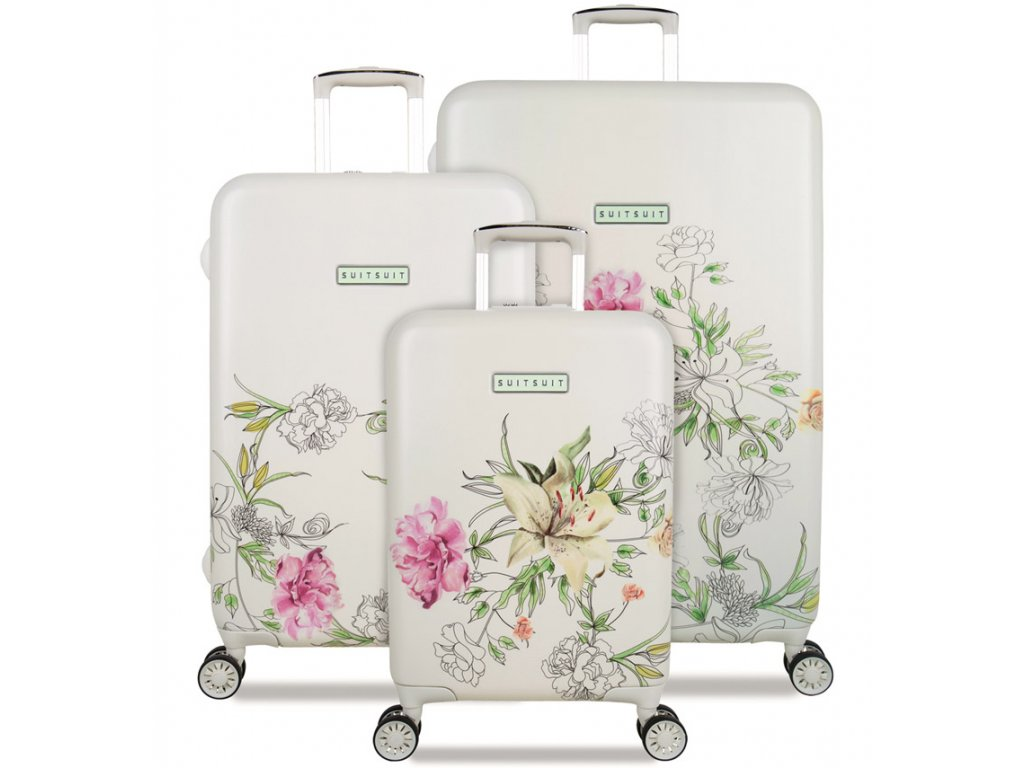 Sada cestovních kufrů SUITSUIT® TR-5101/3 - 10th Anniversary English Garden  + Sluchátka, myš nebo pouzdro