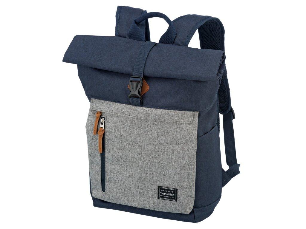 Travelite Basics Roll-up Backpack Navy/Grey 35l