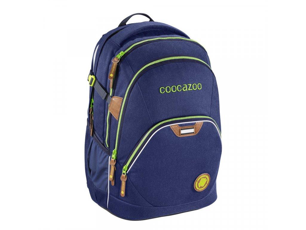 Školní batoh Coocazoo EvverClevver2, Denim Blu, certifikát AGR  + 5 % sleva po registraci + LED svítilna