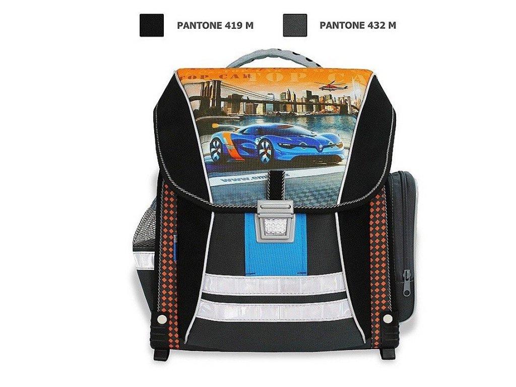 Školní batoh Top Car  + LED svítilna