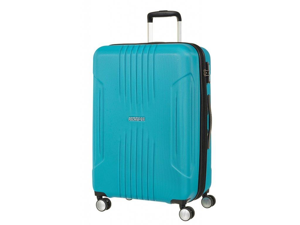 American Tourister TRACKLITE SPINNER 67 EXP M - SKY BLUE  + LED svítilna