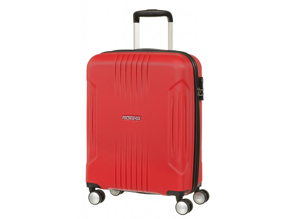 American Tourister TRACKLITE SPINNER 55 S - FLAME RED  + LED svítilna