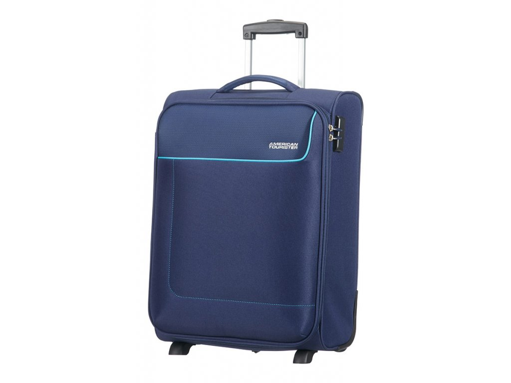 American Tourister FUNSHINE  UPRIGHT 55 S - ORION BLUE  + LED svítilna