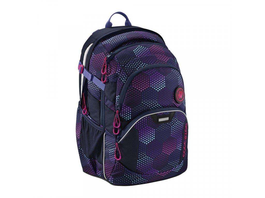 Školní batoh Coocazoo JobJobber2, Purple Illus  + LED svítilna