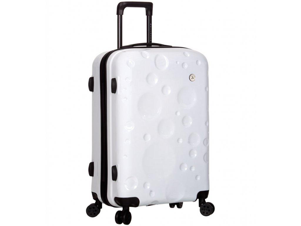 Cestovní kufr SIROCCO T-1194/3-M PC - bílá  + LED svítilna