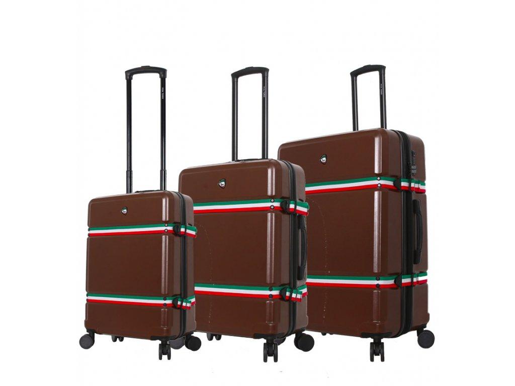 Sada cestovních kufrů MIA TORO M1543/3 - hnědá  + Sluchátka, myš nebo pouzdro