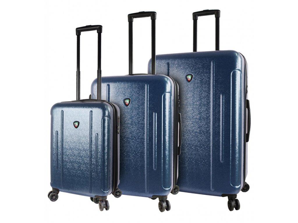 Sada cestovních kufrů MIA TORO M1239/3 - modrá  + LED svítilna