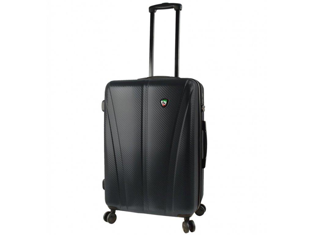 Cestovní kufr MIA TORO M1238/3-M - černá  + LED svítilna