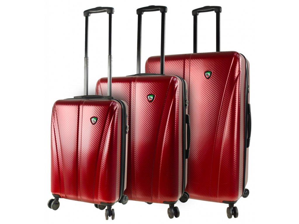 Sada cestovních kufrů MIA TORO M1238/3 - vínová  + LED svítilna