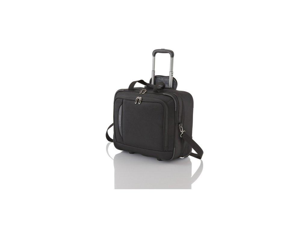 Travelite CrossLITE Business Wheeler Black  + LED svítilna