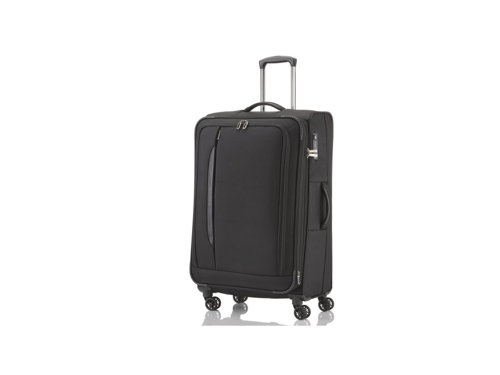 Travelite CrossLITE 4w L Black  + LED svítilna