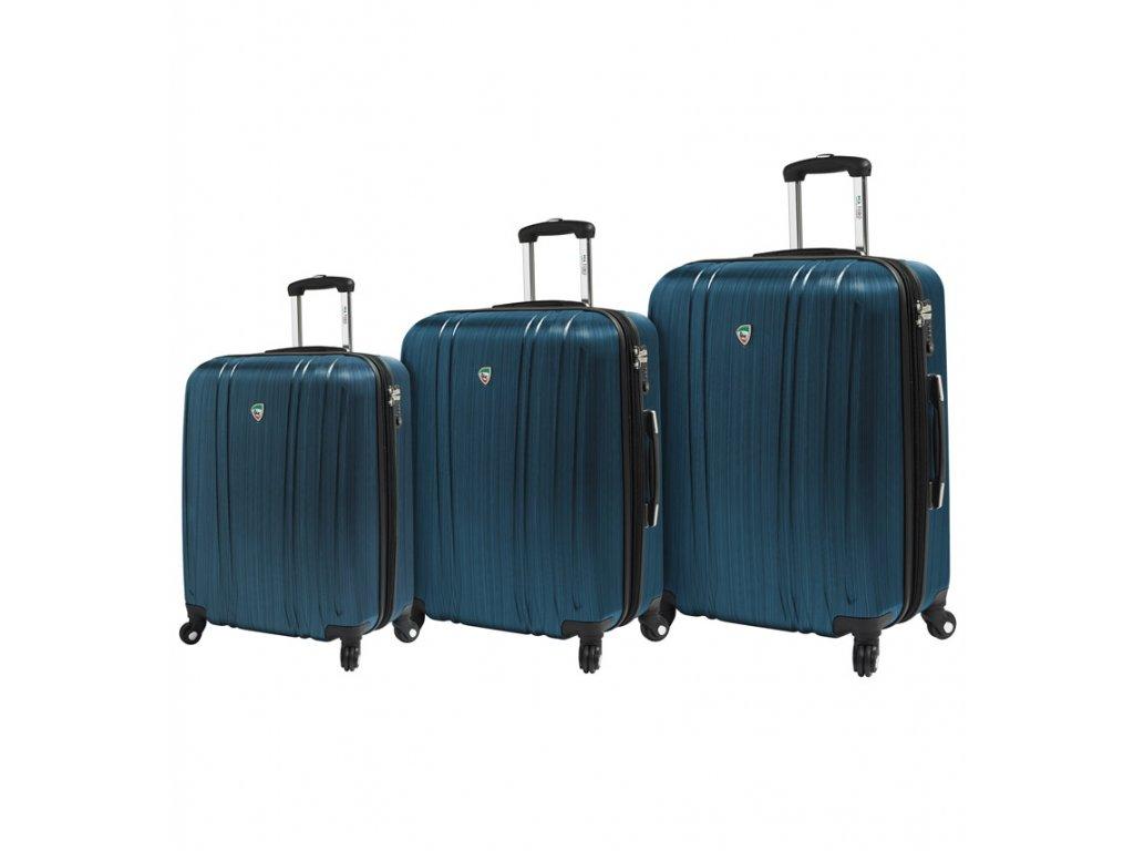 Sada cestovních kufrů MIA TORO M1093/3 - modrá  + Sluchátka, myš nebo pouzdro