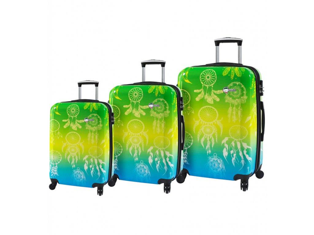 Sada cestovních kufrů MIA TORO M1091/3  + LED svítilna