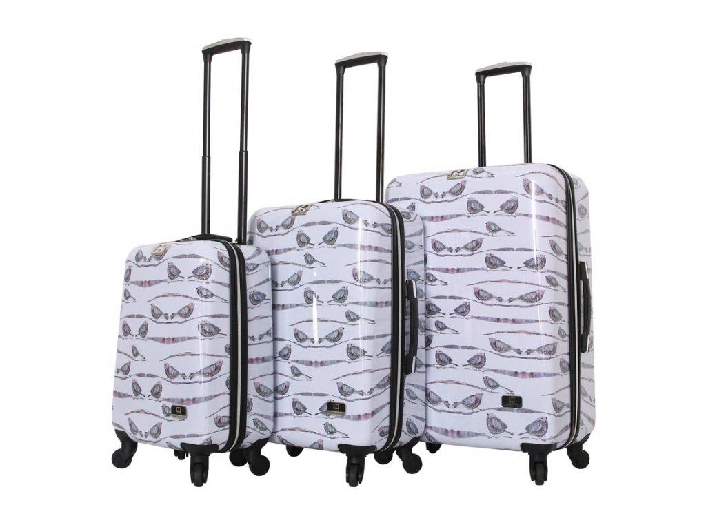 Sada cestovních kufrů MIA TORO HALINA H1013/3  + LED svítilna
