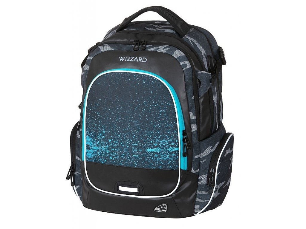 0f2cf3cb43 Studentský batoh WIZZARD Blue + LED svítilna - Světbatohů.cz