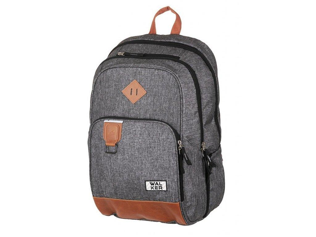 Studentský batoh CONCEPT Grey  + LED svítilna