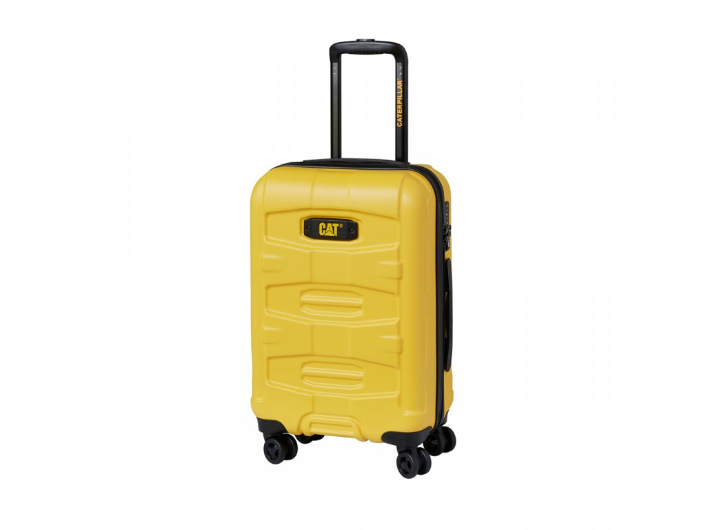 CAT trolley 59,5 l, polykarbonát žlutý  + LED svítilna