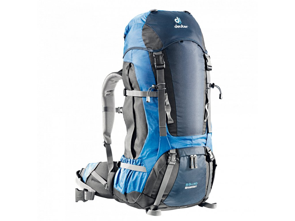 Deuter Aircontact 55 + 10 midnight-ocean  + LED svítilna